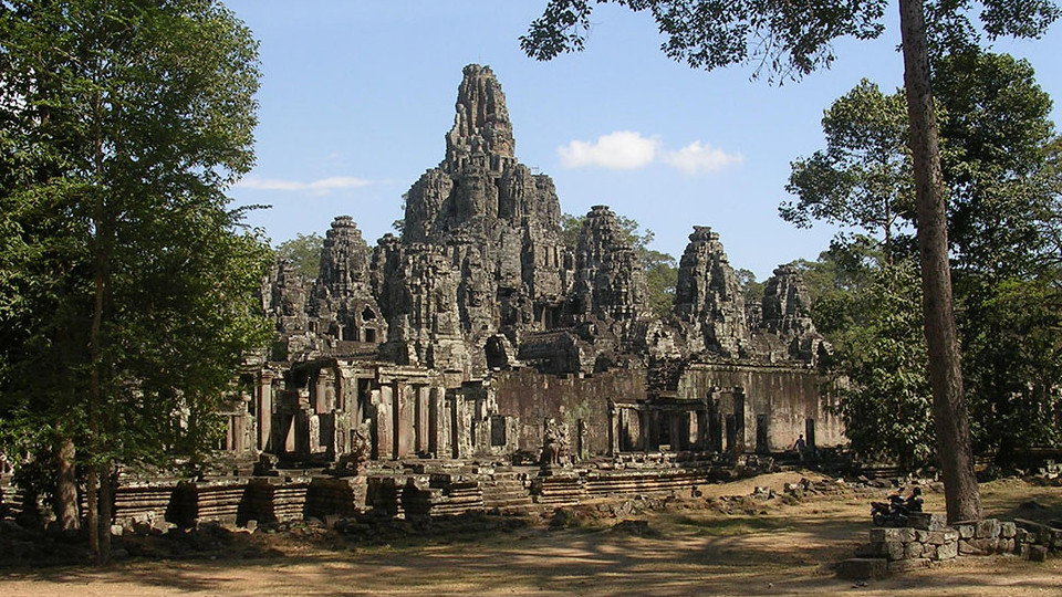 The Bayon complex of face towers - Angkor Thom Cambodia