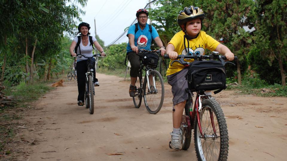 Cycling mekong delta in BinhHoaPhuoc island