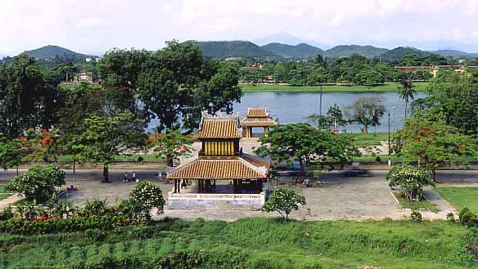 Perfume river seen from the Flag pole in Hue citadel