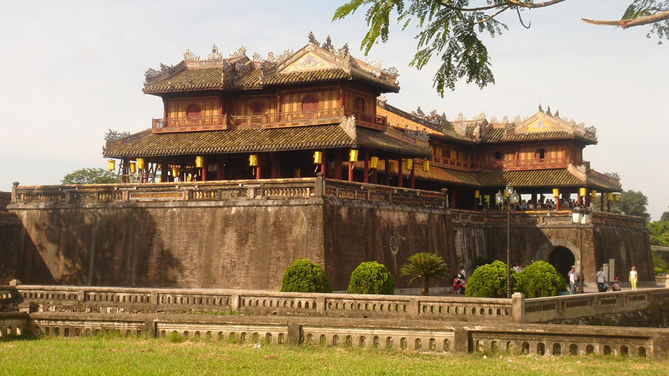 Ngo Mon - South gate of the Imperial city - Hue Vietnam
