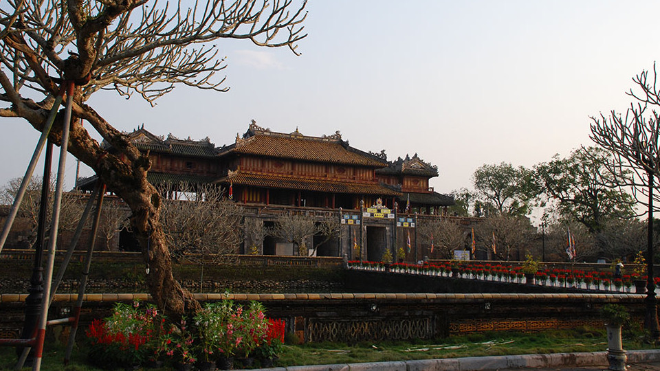 Hue imperial city in the citadel - Hue Vietnam