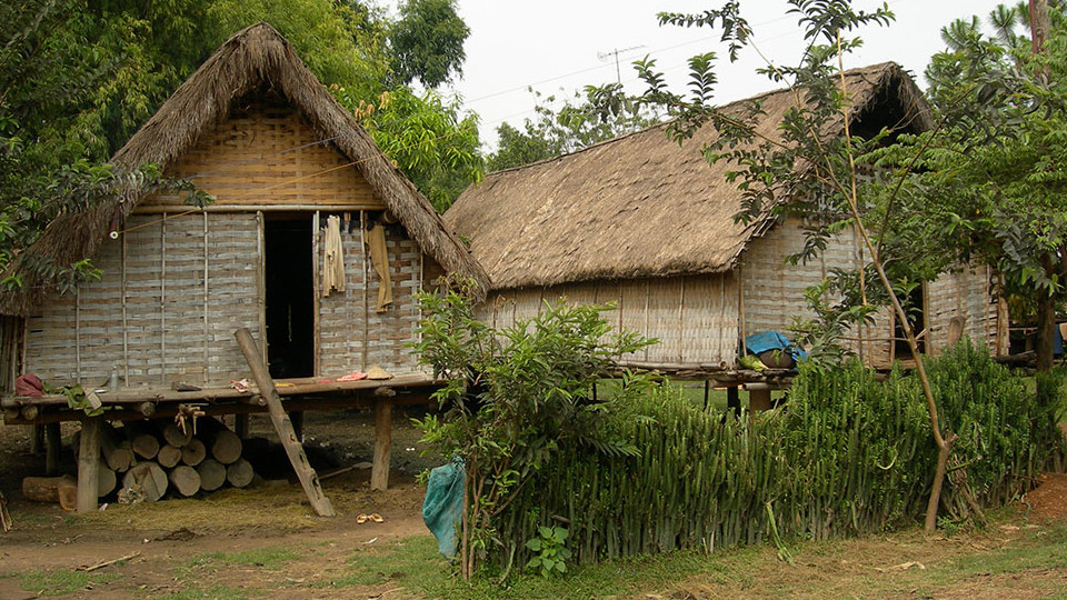 Stilt house of Ede and Mnong tribe in Jun village - Lak lake