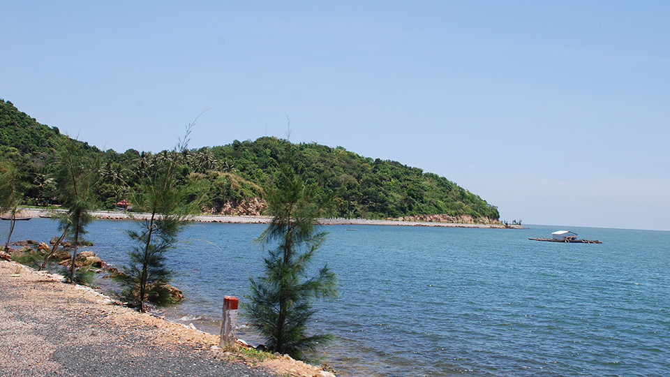 MuiNai beach in HaTien - mekong delta Vietnam
