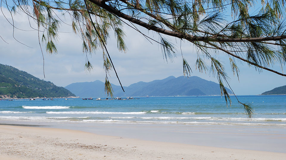 White sand of DocLet beach north of NhaTrang