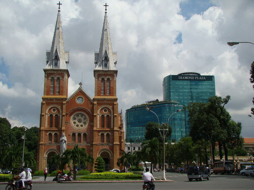 Notre Dame Cathedral in Centre Saigon