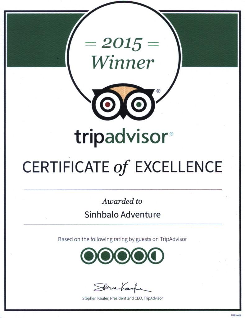 Mekong delta tour Tripadvisor winner for Sinhbalo in 2015