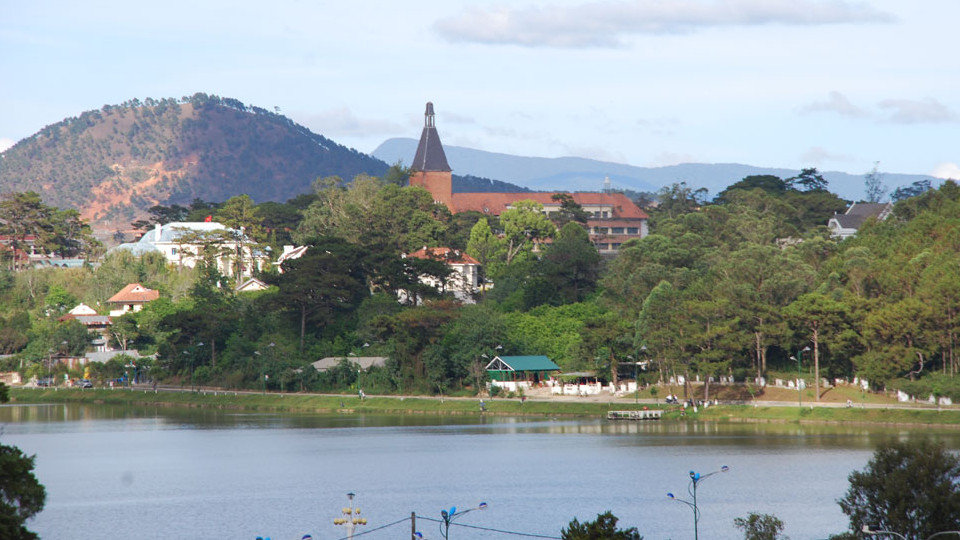 XuanHuong lake in DaLat - Central highlands Vietnam