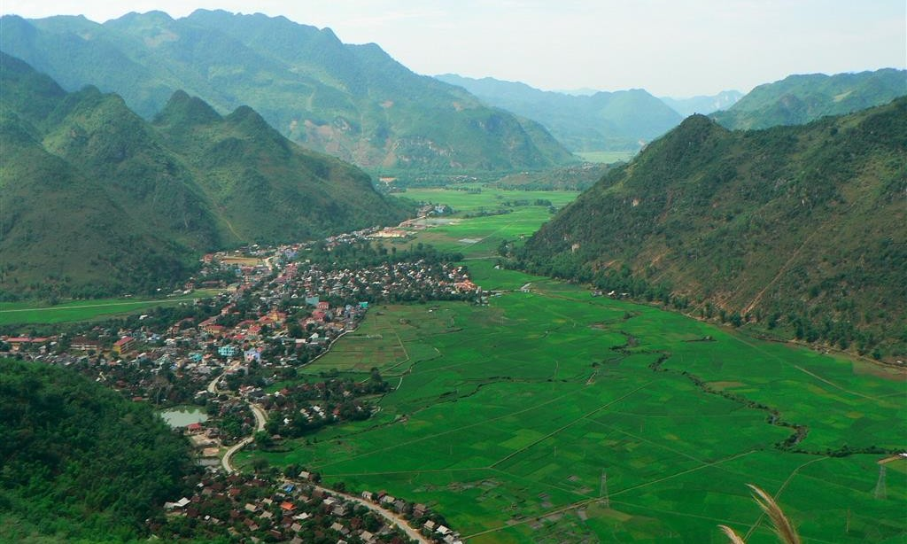 The valley of Mai Chau Vietnam