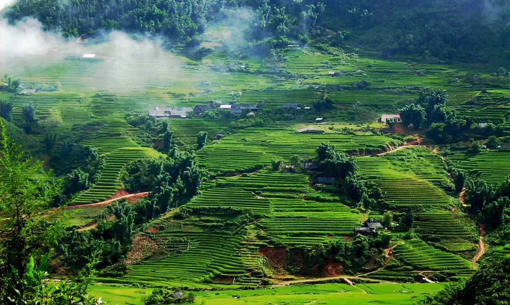 Scenery of Pu Luong nature reserve - Mai Chau Vietnam