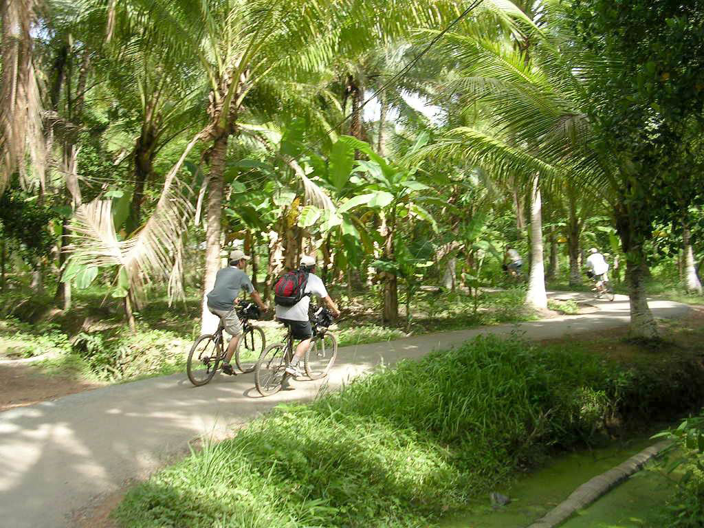 Road in TamPhuoc commune - Mekong delta cycling BenTre