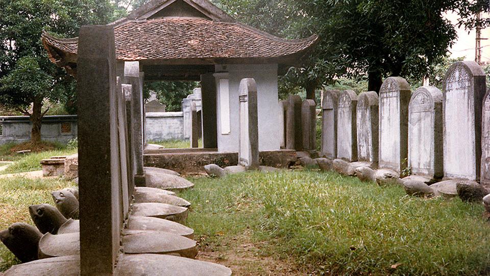 Hanoi Vietnam - Doctoral steles at Hanoi Temple of Literature
