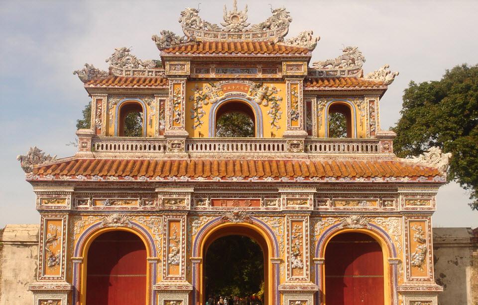Hue imperial city - ChuongDuc gate - Hue Vietnam