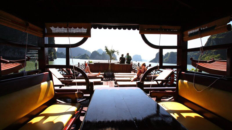 Halong bay cruise with Phoenix - sun deck