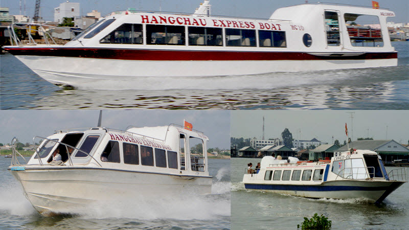 Mekong river cruise - HangChau speed boat in ChauDoc