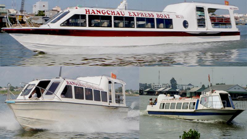 Mekong river cruise - HangChau speed boat in ChauDoc