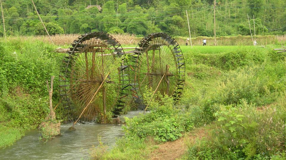 PuLuong water wheels - Mai Chau Vietnam