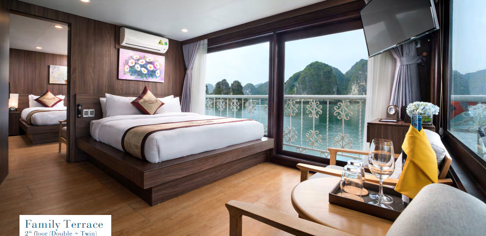 CatBa island Halong bay LanHa bay 3days with UniCharm cruise | Family terrace Double and Twin